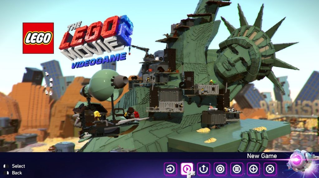 The LEGO Movie 2 Videogame: Main Menu