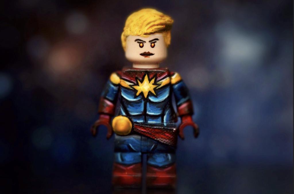 custom captain marvel minifigure