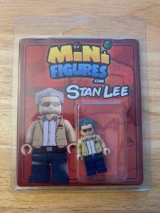 custom Stan Lee minifigure packaging