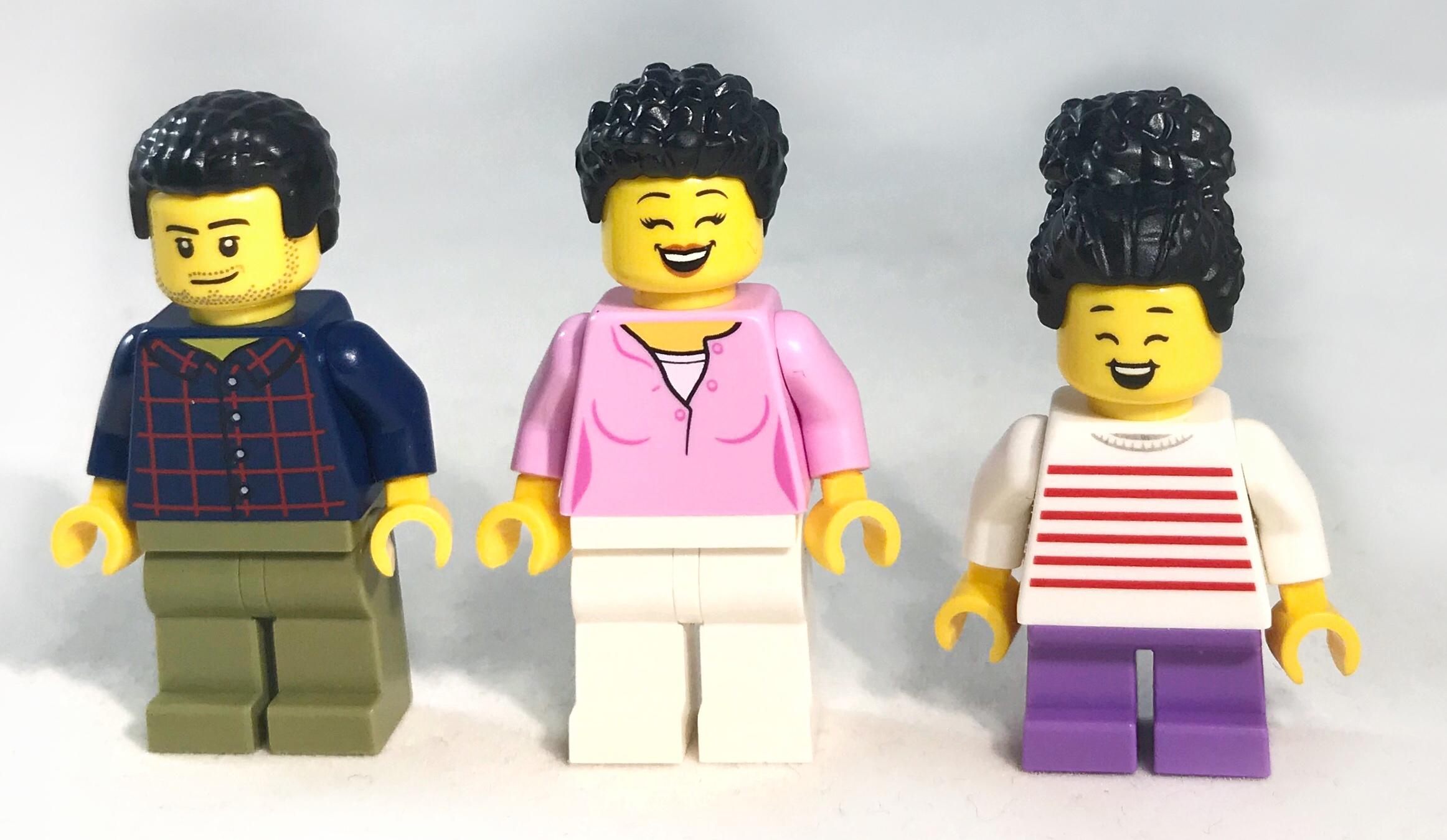 Lego 20 Black Minifigure Legs Boy Girl Pants City Figure Pieces