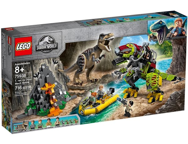 Image of LEGO T-Rex vs Dino Mech Battle