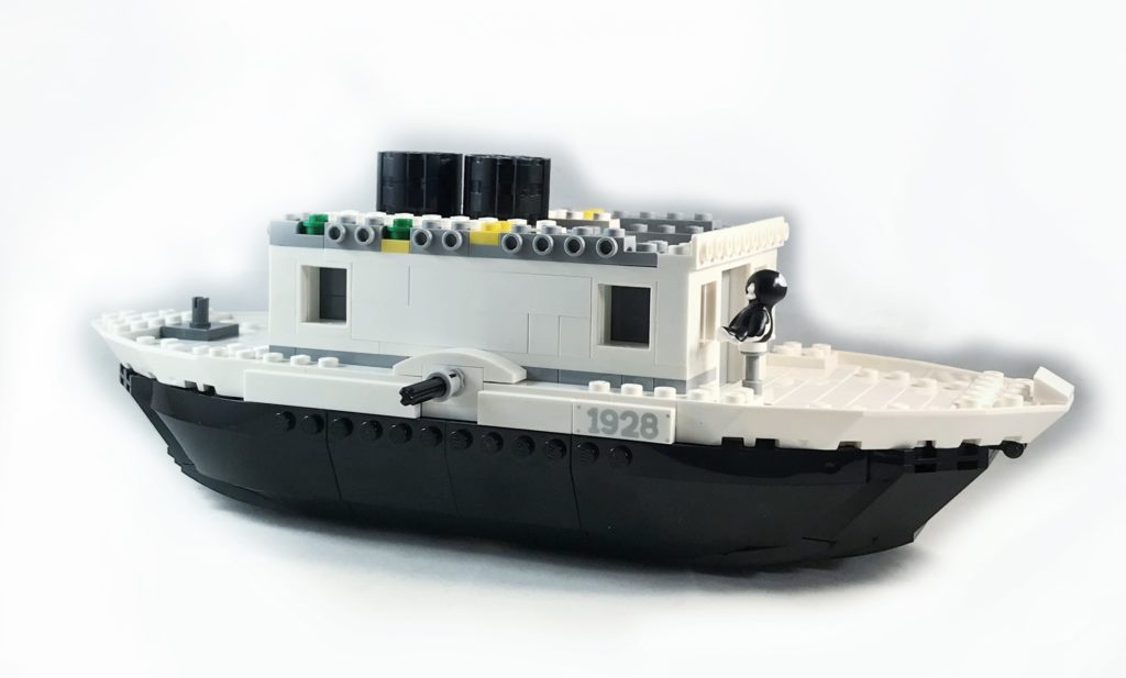 LEGO Steamboat Willie almost complete