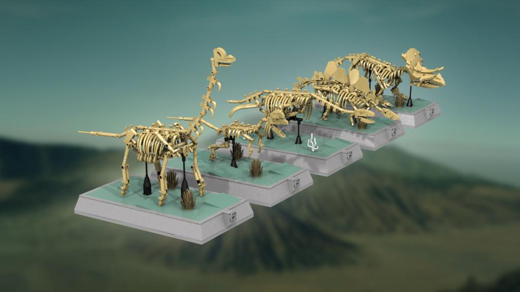 Image of the LEGO Ideas Dinosaur Skeletons. LEGO Jurassic June.