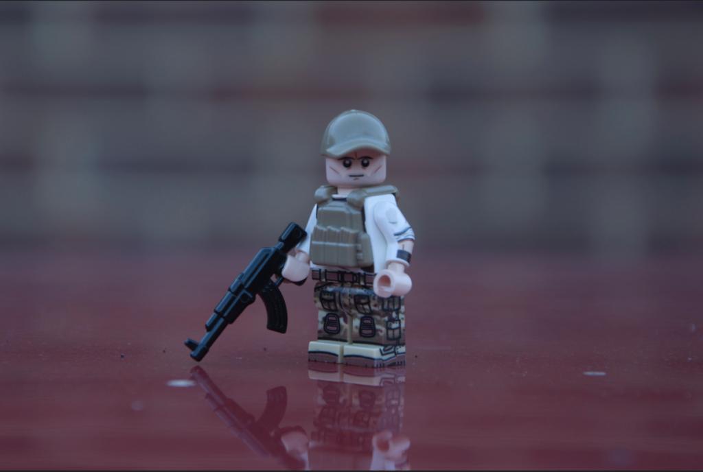 Mercenary with BrickArms PCV and LEGO Cap