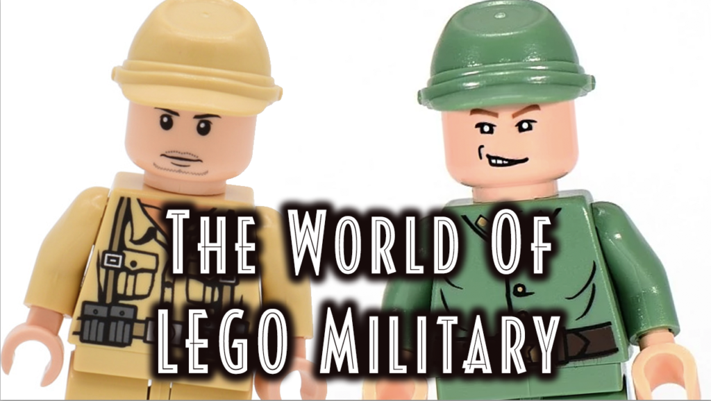 LEGO Army - Image of German and Russian Soldier with caption 'The World of LEGO Military'