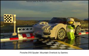 mecabricks render of lego sports car