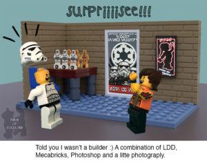 lego stormtrooper surprised