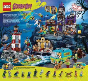 image of all sets in lego scooby-doo theme