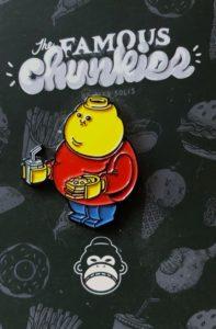 Alex Solis Famous Chunkies minifigure pin