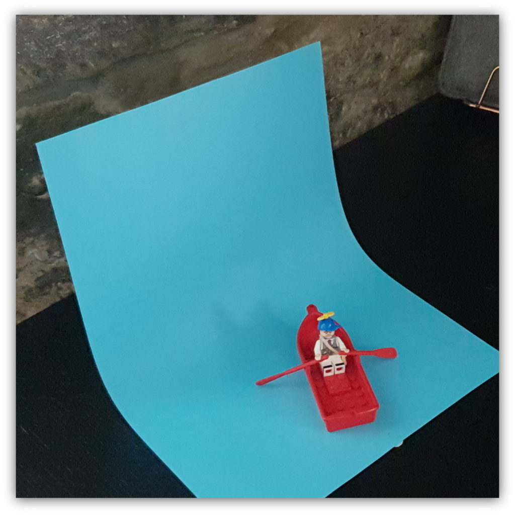Toy photography behind the scenes single card