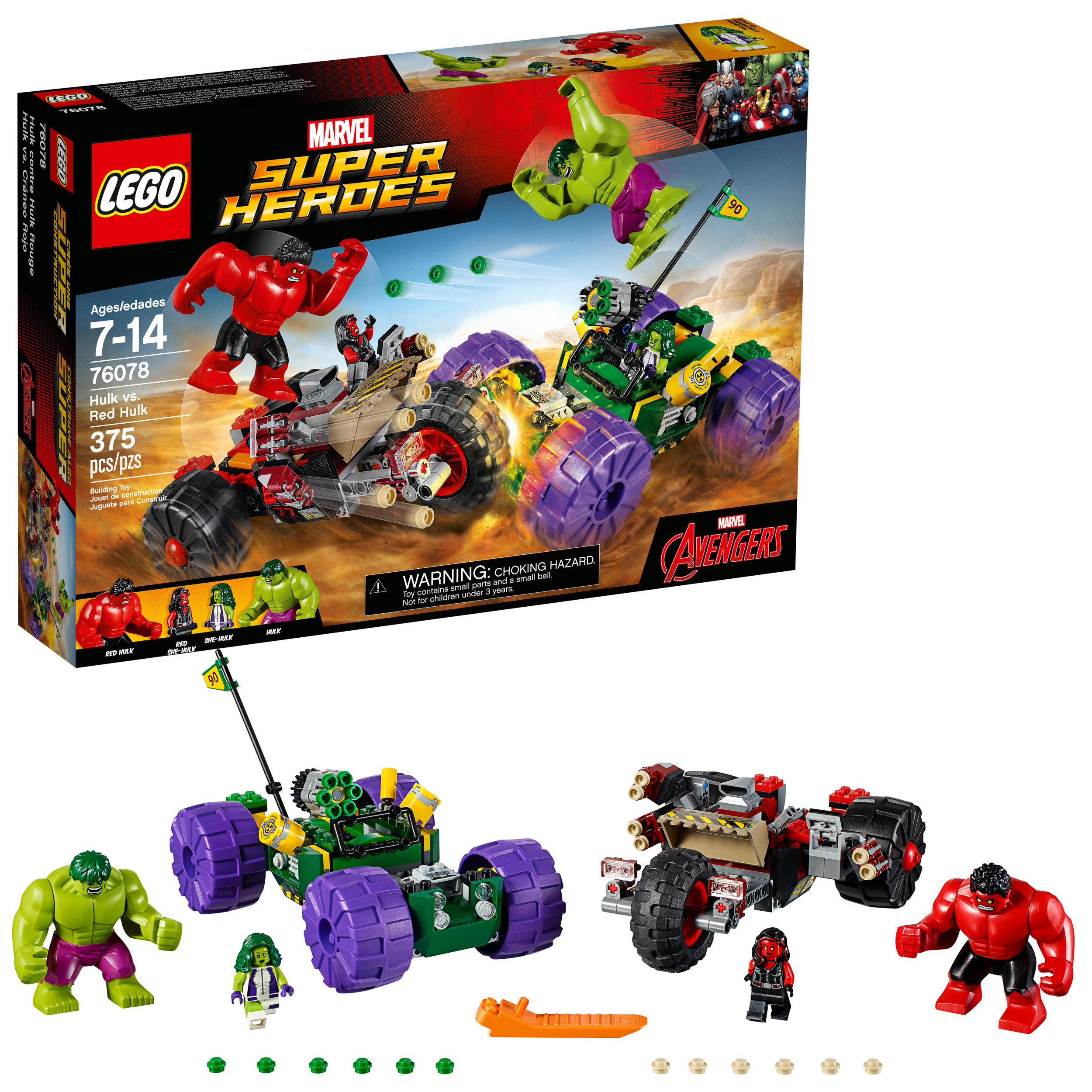 LEGO Red Hulk vs Hulk Set