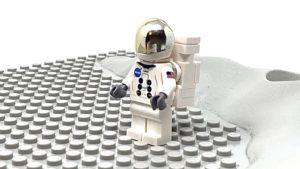 lego lunar lander astronaut with equipment