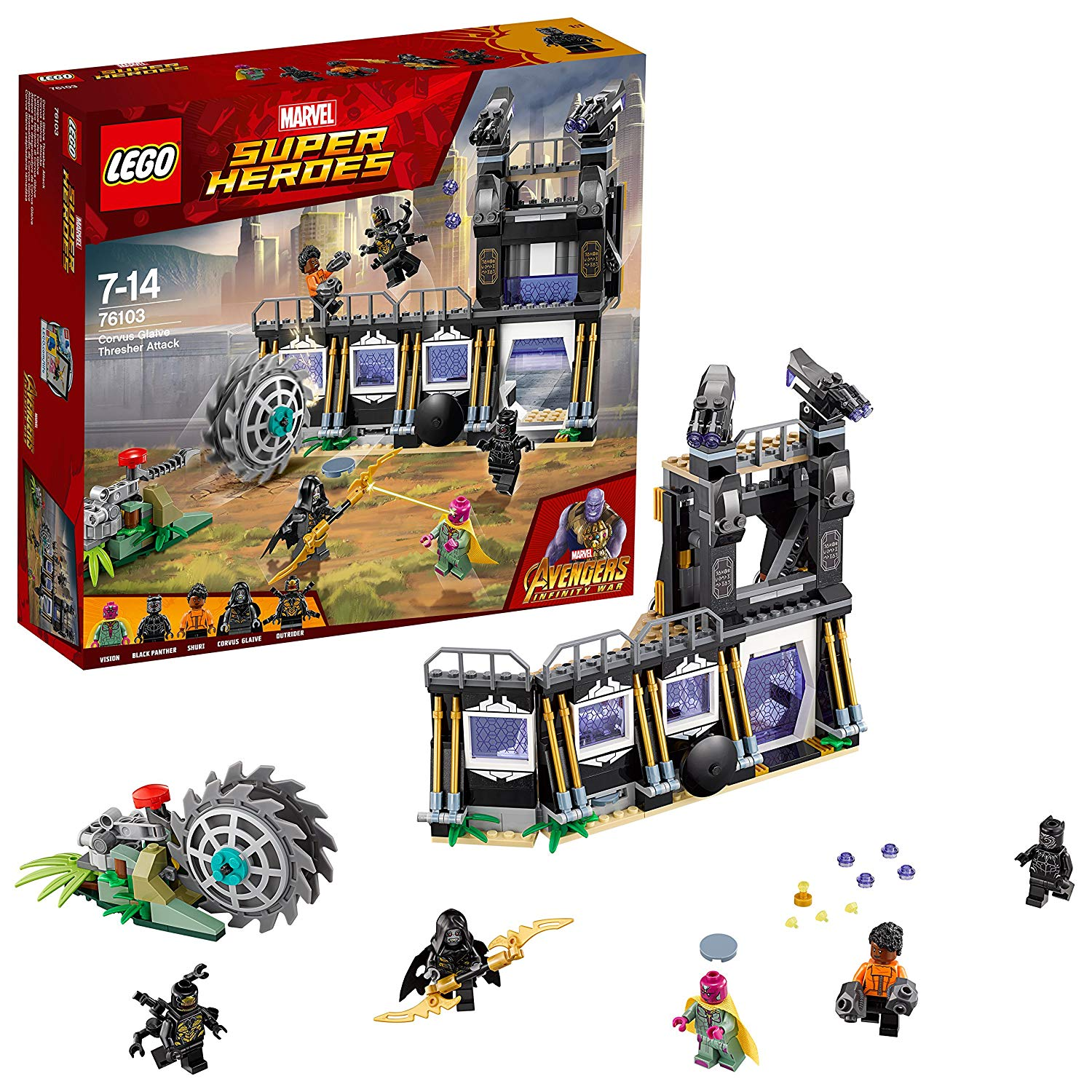 Lego sets with infinity stones: Corvus Glaive Thresher Attack Set