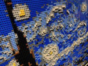 LEGO art starry night