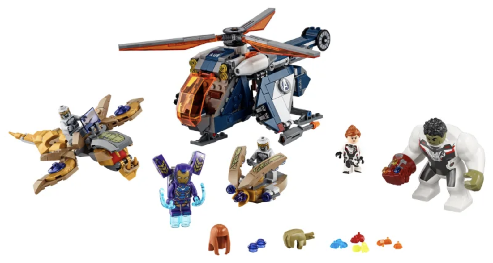 Lego sets with infinity stones: LEGO Avengers - Hulk Helicopter Drop
