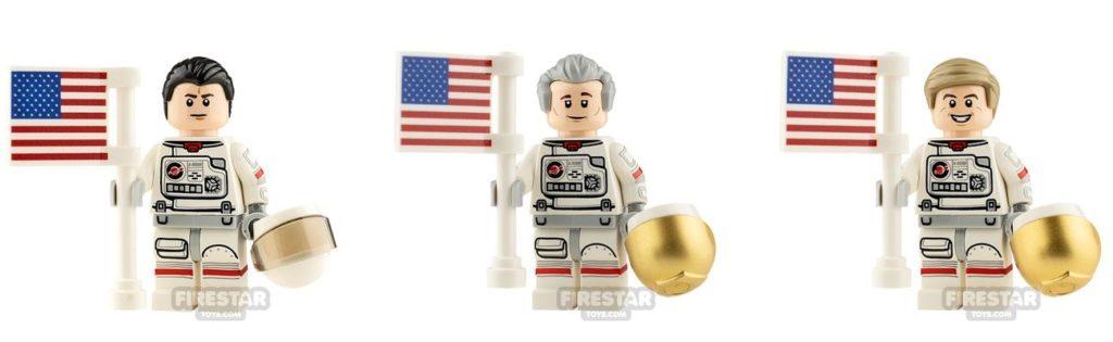 lego lunar lander custom astronaut minifigures