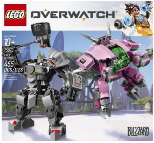 lego overwatch dva and reinhardt