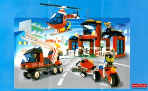 lego fire stations: fire fighter's hq