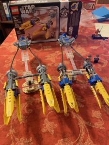 old and new LEGO podracers