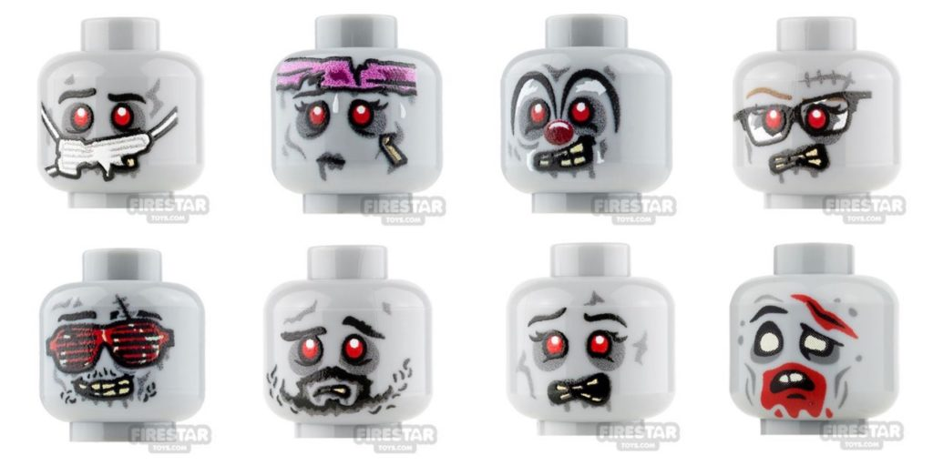 Lego halloween zombie heads