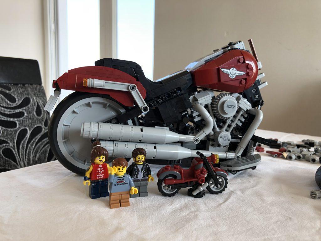 LEGO Harley Davidson Fat Boy - almost finished!