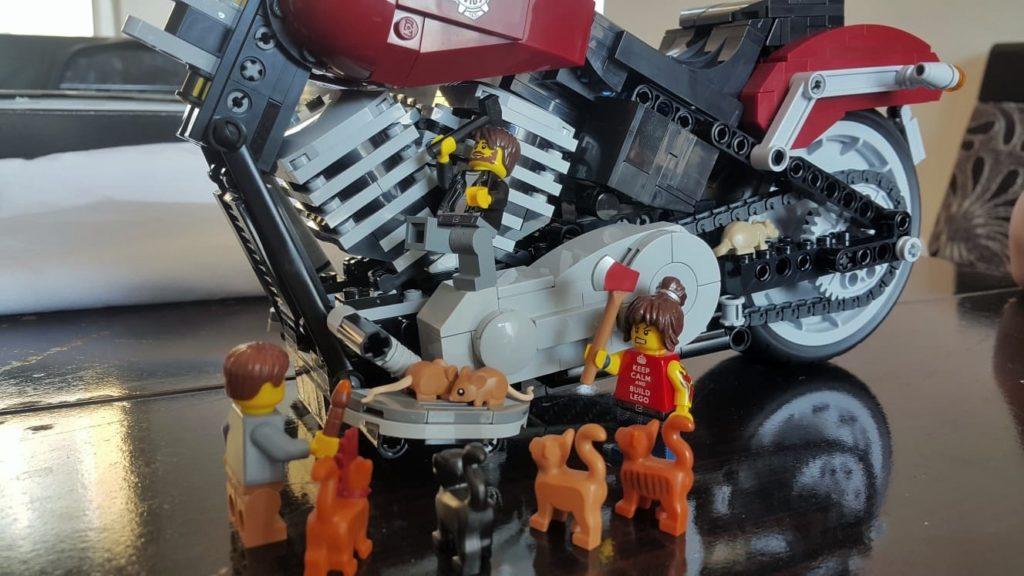 LEGO Harley Davidson Fat Boy fun with minifigures