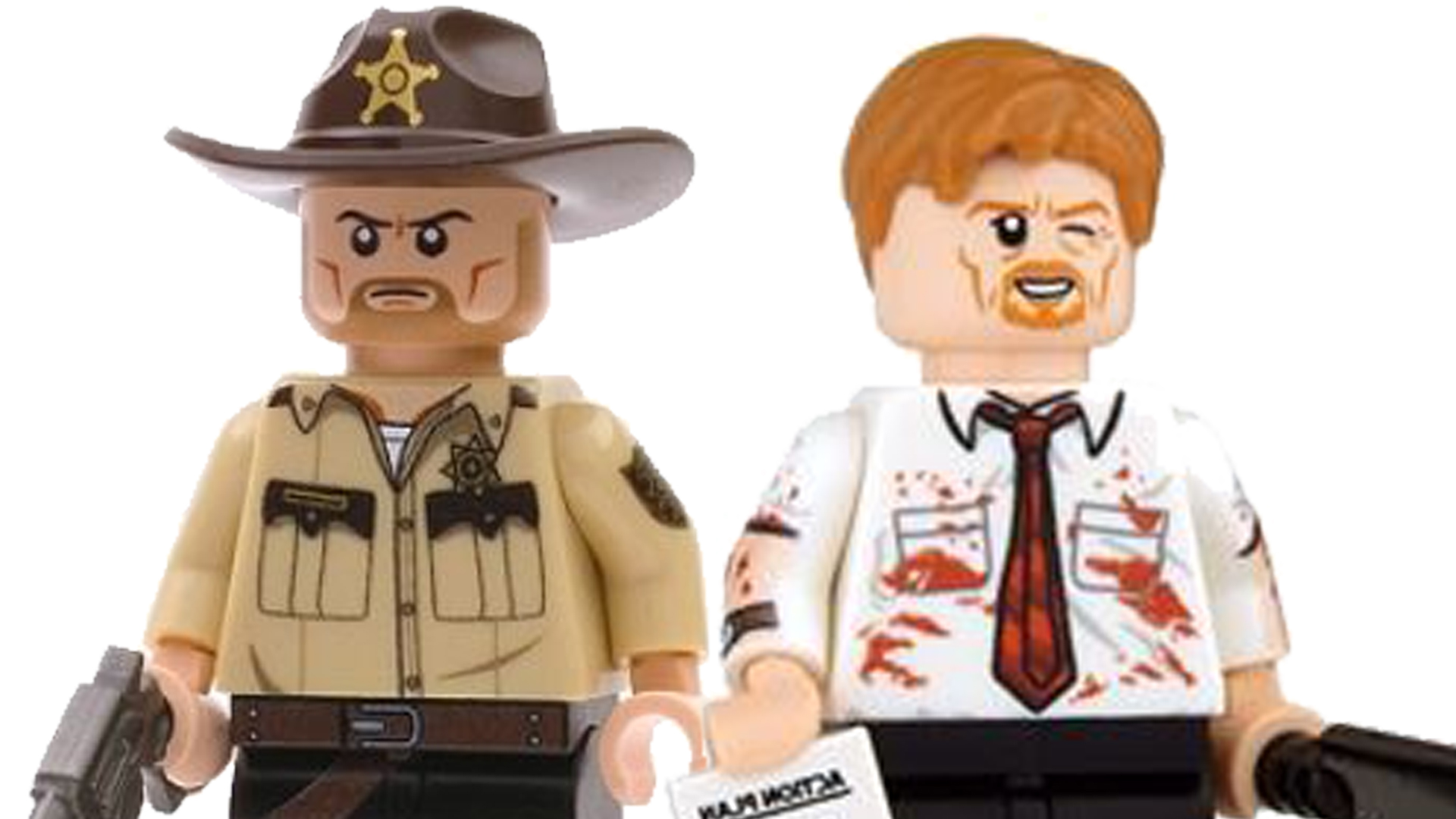 Brick Grimes and Shaun of the Dead