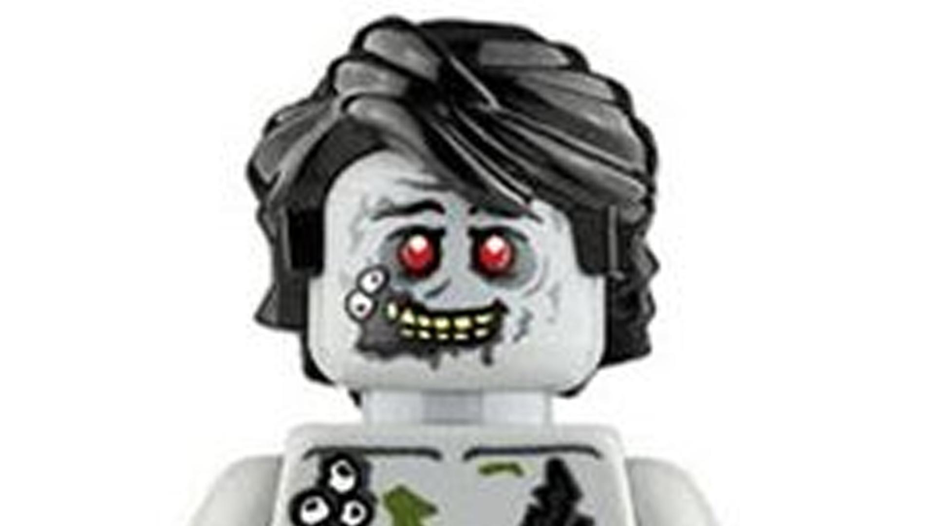 LEGO Zombie Closeup