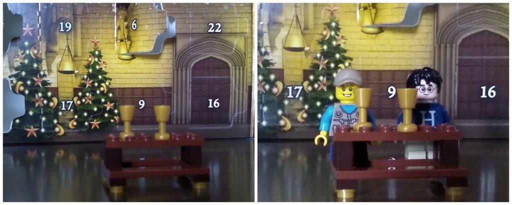 harry potter advent calendar great hall table