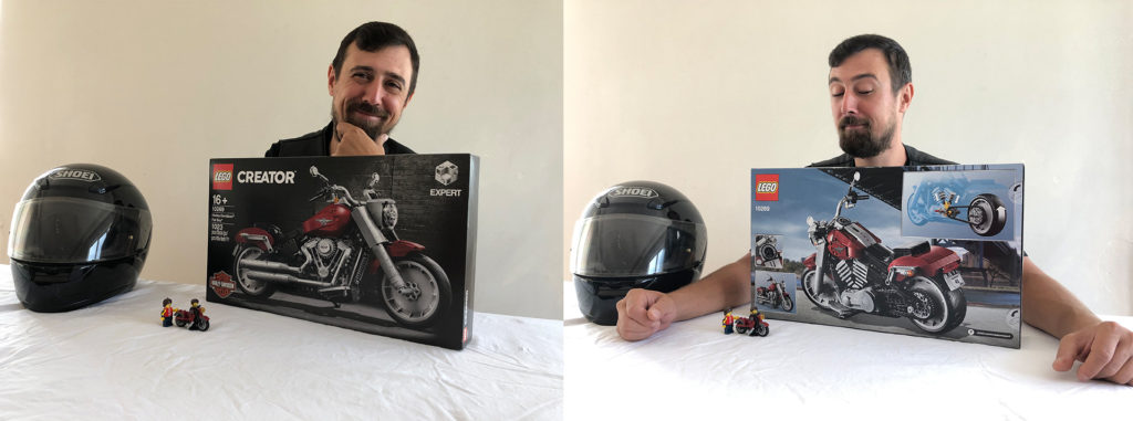 LEGO Harley Davidson Fat Boy set box