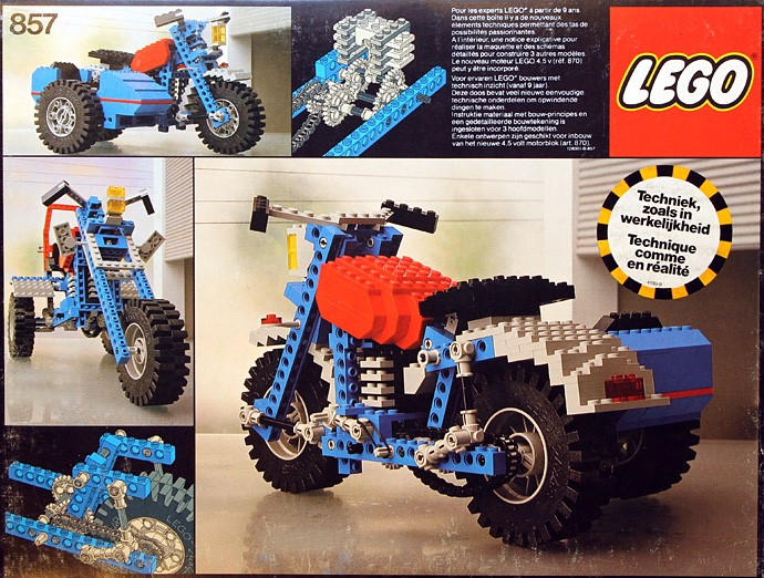 LEGO Technic Motorcycles motorbike with side car