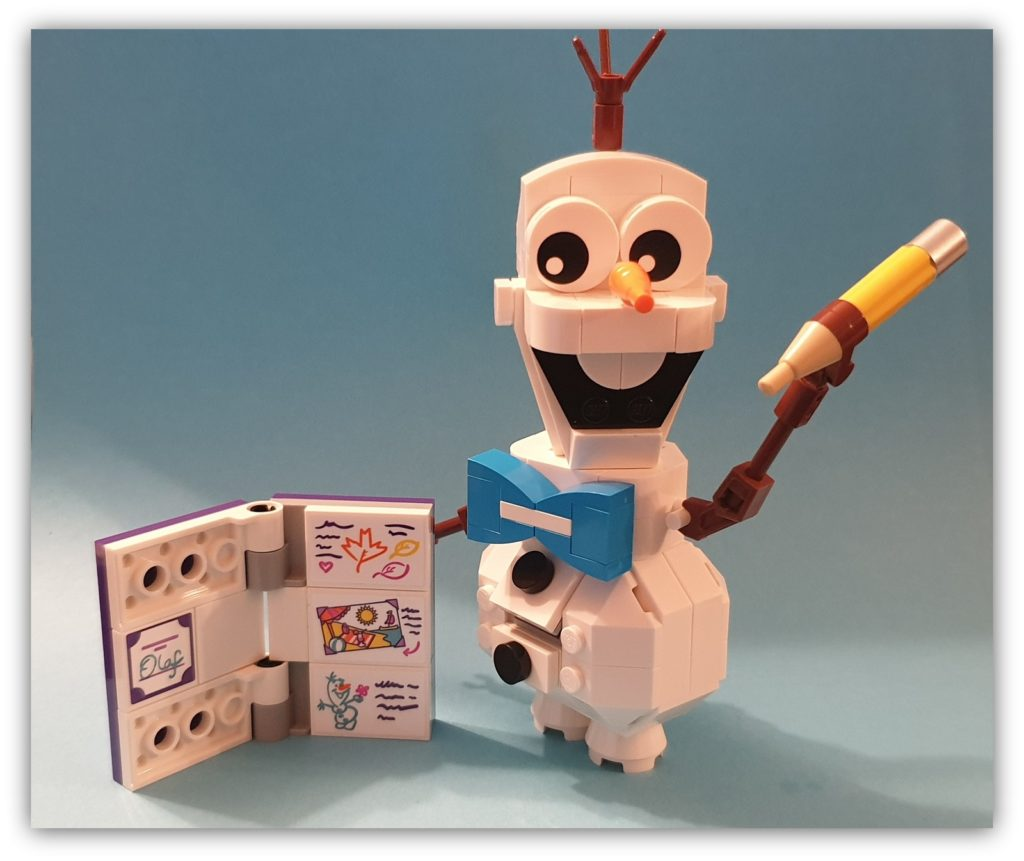 frozen 2 buildable olaf finished set
