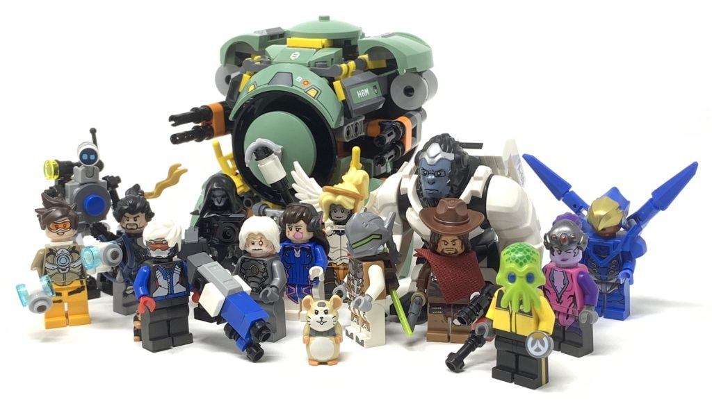 lego overwatch wrecking ball with overwatch minifigures