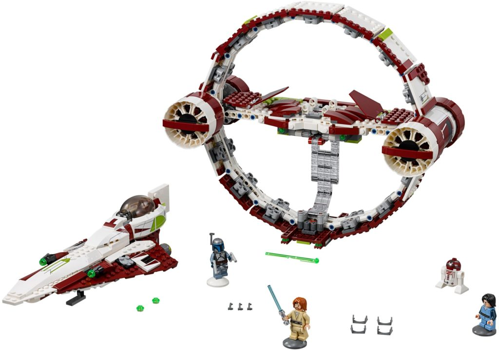 best lego star wars sets jedi starfighter with hyperdrive