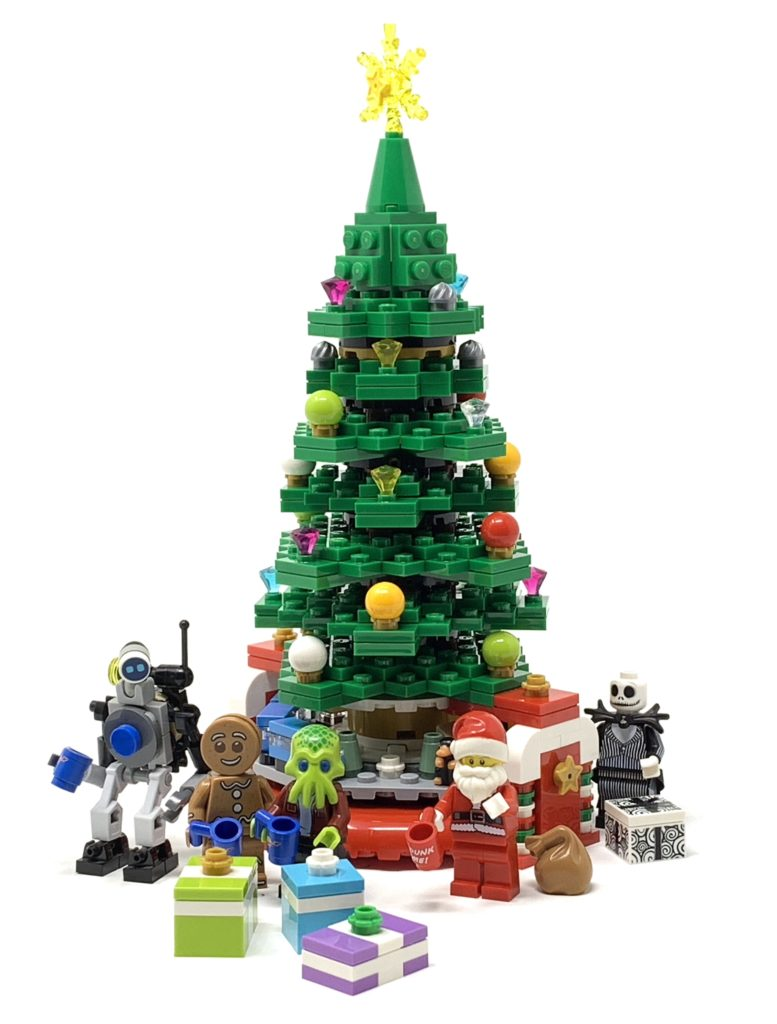 lego christmas tree with minifigures