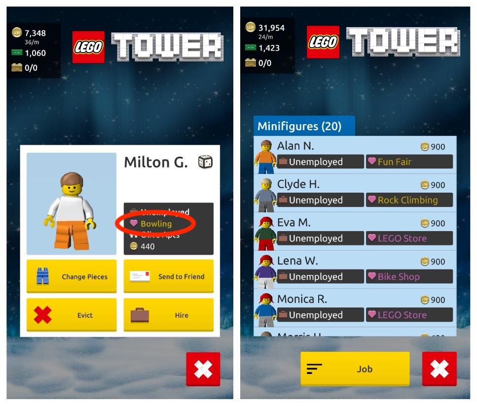 lego tower dream jobs