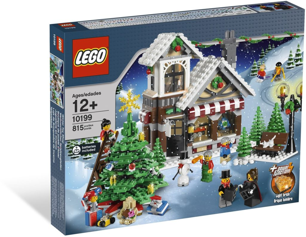 winter village toy shop box