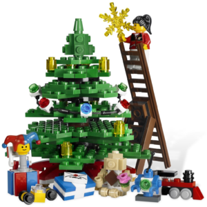 winter village toy shop christmas tree