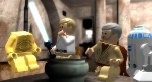 Screenshot from the LEGO Star Wars video game