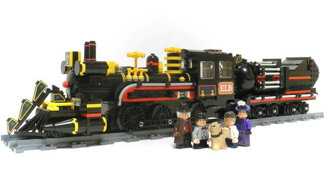 lego back to the future train