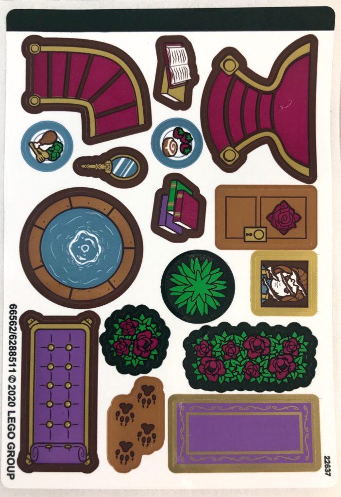 belles storybook adventures stickers