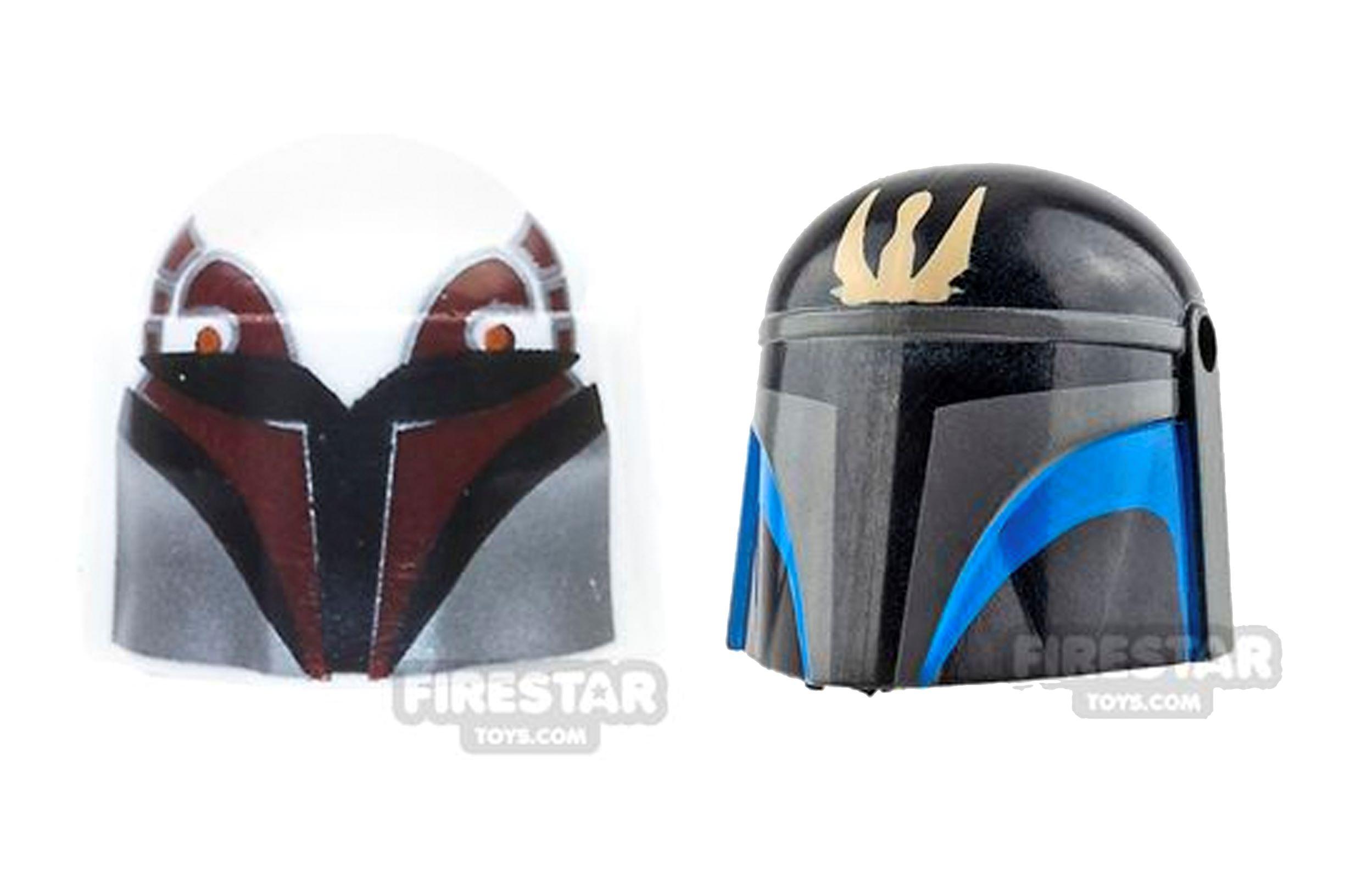 lego mandalorian helmets