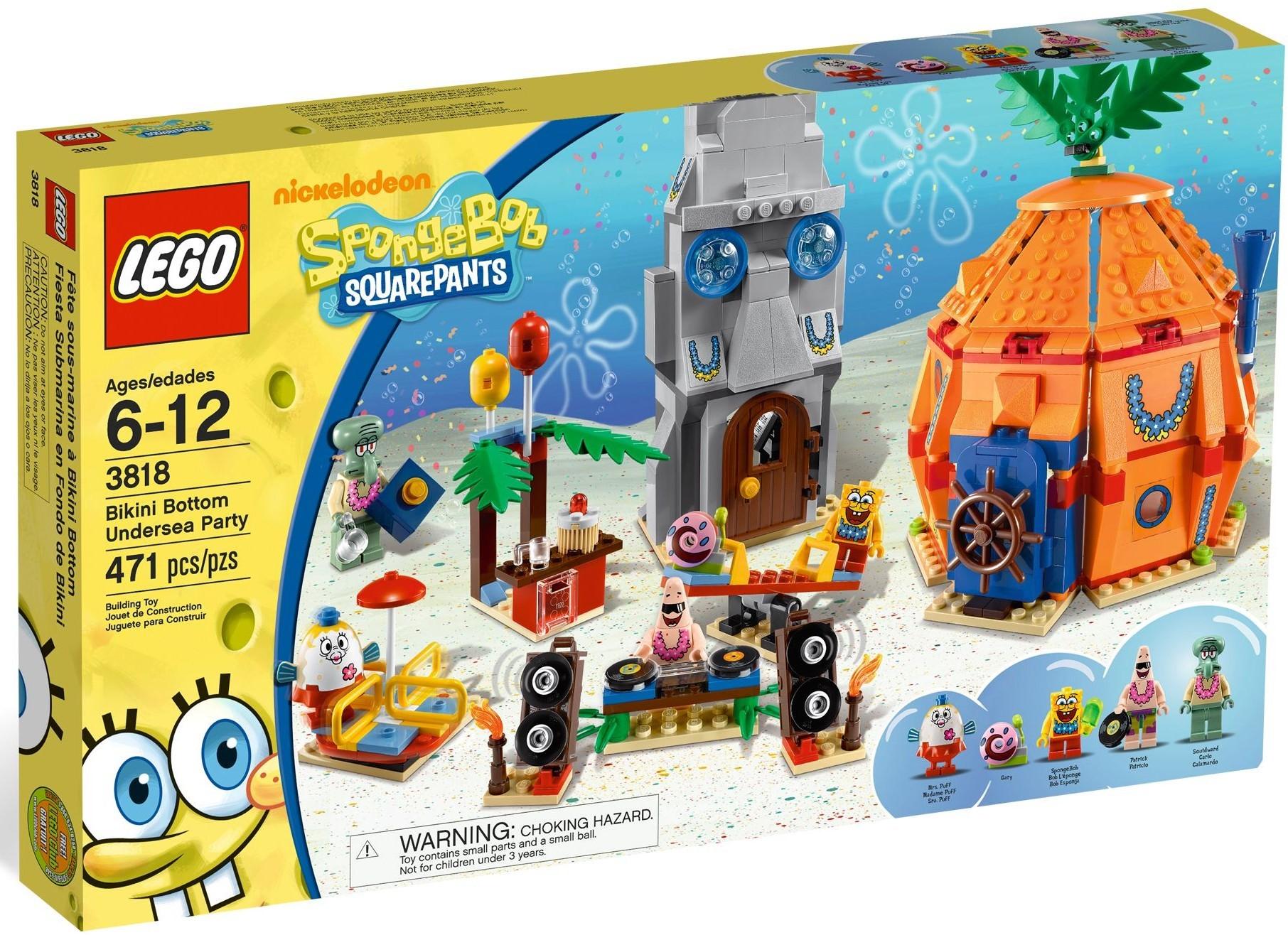 lego spongebob undersea party