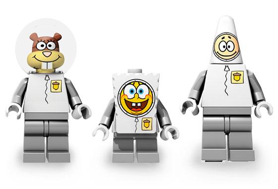 lego spongebob astronauts