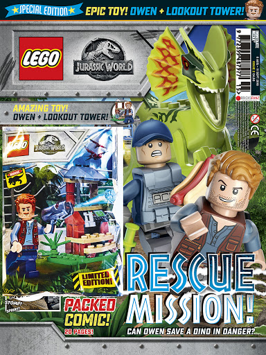 Exclusive LEGO - LEGO Jurassic World Magazine with Owen