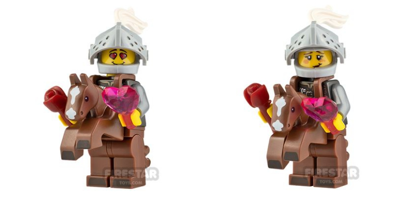 lego valentines custom minifigures