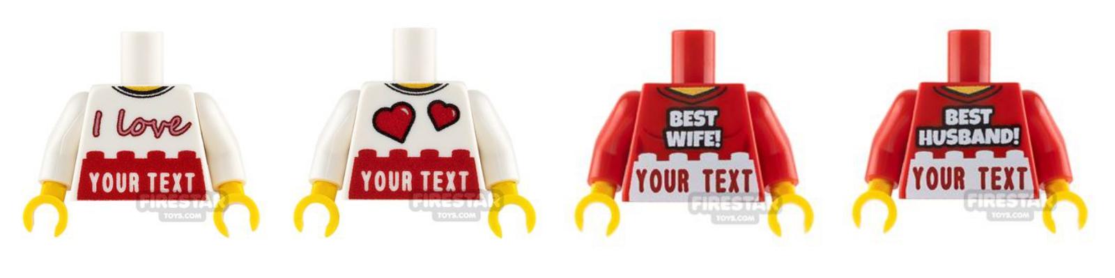 lego valentines custom torsos