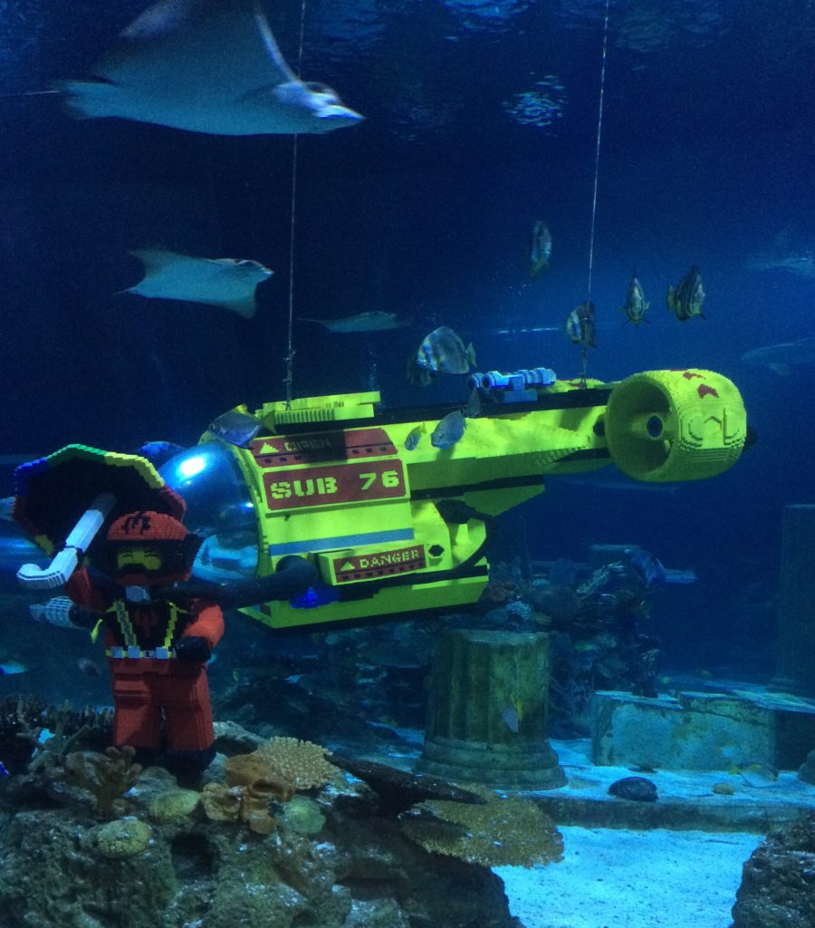 legos in aquarium