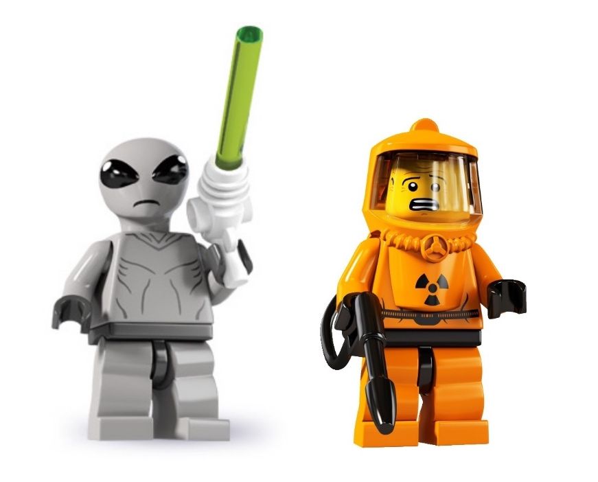 lego alien minifigures