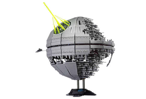 Death Star II On Display Stand